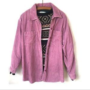 Vintage Purple Corduroy Button Down Shirt